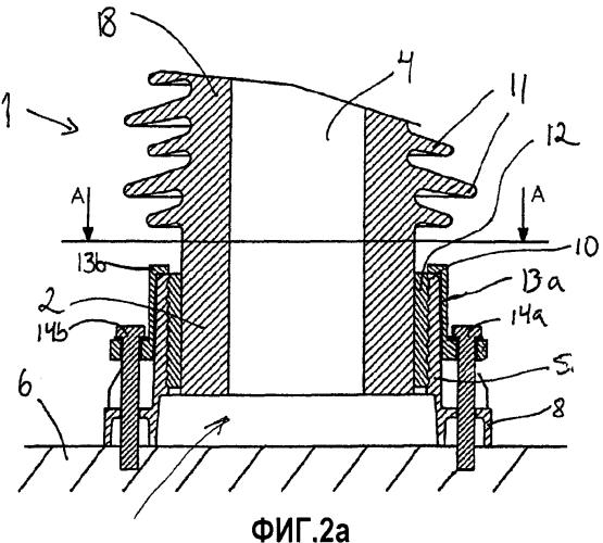 Упрочняющий элемент для крепежного фланца полого цилиндрического корпуса изолятора