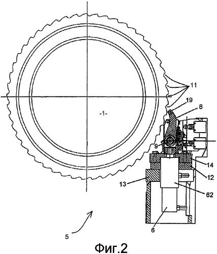 Приводное устройство для вращения турбинного валопровода и турбогенераторная установка