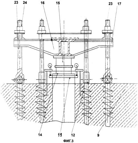 Способ возведения эталонного фундамента