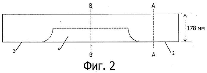 Профиль железнодорожной шпалы на полимерной основе, предназначенный для уменьшения ограничения по центру