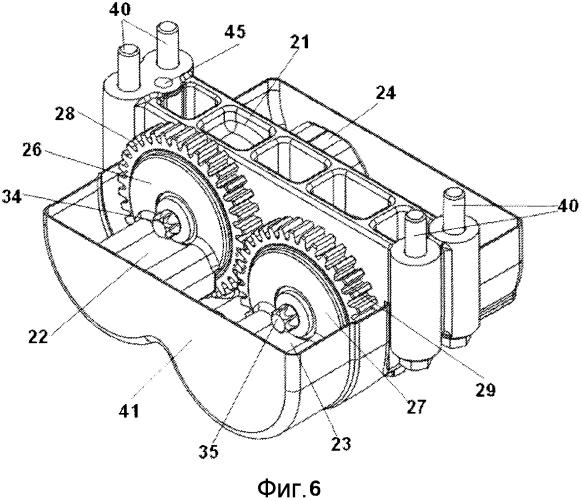 Система масс противоположного вращения для использования с рядным четырехцилиндровым двигателем внутреннего сгорания для уравновешивания вибраций, образуемых двигателем, и рядный четырехцилиндровый двигатель, содержащий такую систему