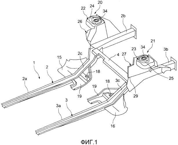 Способ установки узла передней оси/подрамника в корпусную часть автомобиля