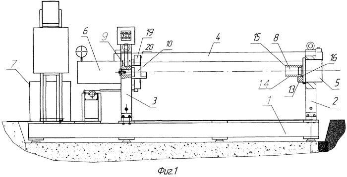 Установка для запрессовки колесных пар вагонов метро