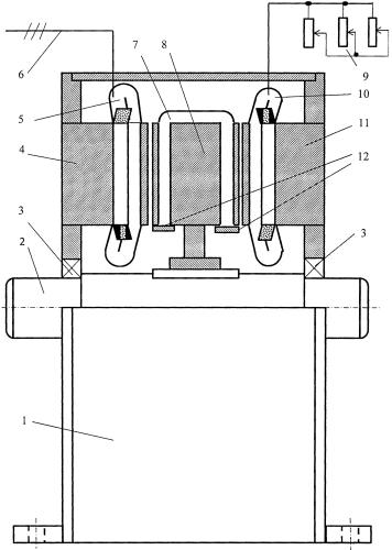 Управляемый каскадный асинхронный электропривод с общим ротором