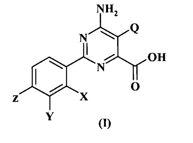 Композиция и способ защиты пшеницы и ячменя от вредных воздействий 6-амино-2-(замещенного фенил)-5-замещенного-4-пиримидинкарбоксилатного гербицида
