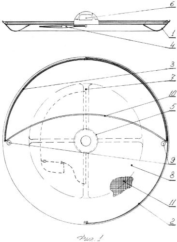 Парусно-моторное судно тормаран