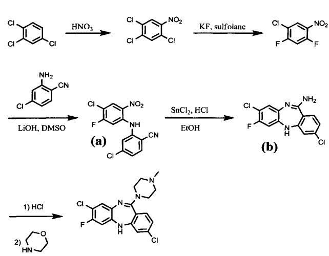 Способ синтеза фторклозапина и его производных