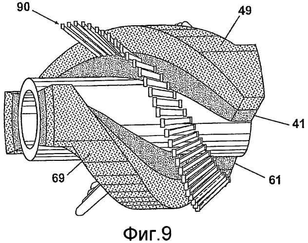 Прибор контроля трубопровода с наклонным намагничивающим устройством