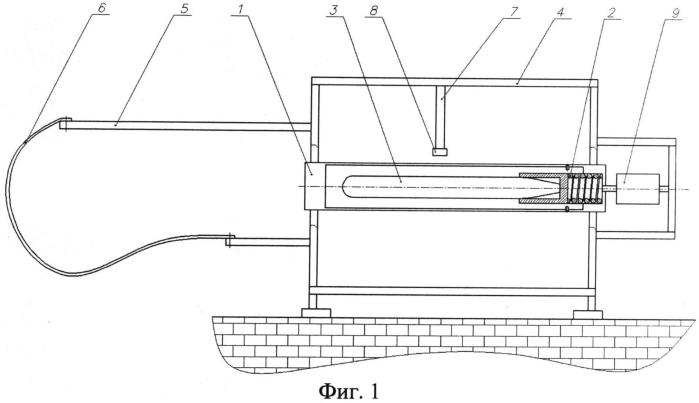 Стенд для отработки всеглубинного пускового устройства арбалетного типа для необитаемых подводных аппаратов