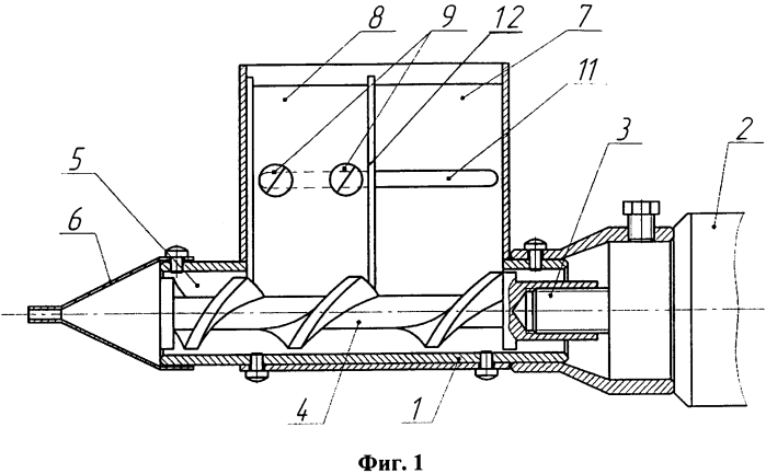 Устройство для подачи шихты в зону приварки или наплавки присадочного материала
