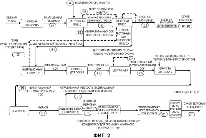 Способ и система для переработки водных организмов