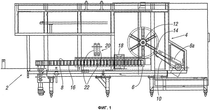 Устройство и способ наполнения частичного сформированного контейнера