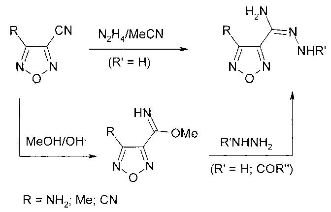 Способ получения амидразонов 4-r-1,2,5-оксадиазол-3-карбоновой кислоты