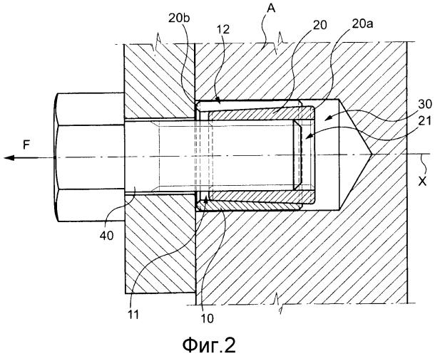 Резьбовая вставка для цилиндрического гладкого отверстия, устройство для установки и извлечения резьбовой вставки для цилиндрического отверстия, способ для выполнения установки резьбовой вставки в цилиндрическое отверстие и способ для извлечения резьбовой вставки из цилиндрического отверстия