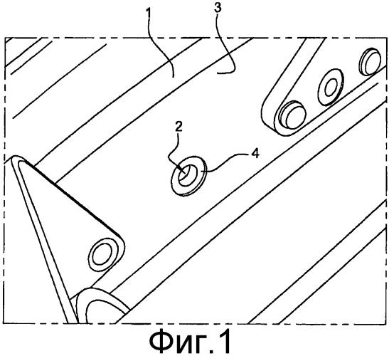 Способ ремонта фланца картера и картер для турбомашины