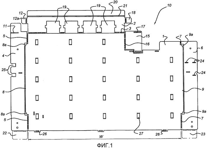 Заготовка для формирования выдвижного ящика для электрического шкафа