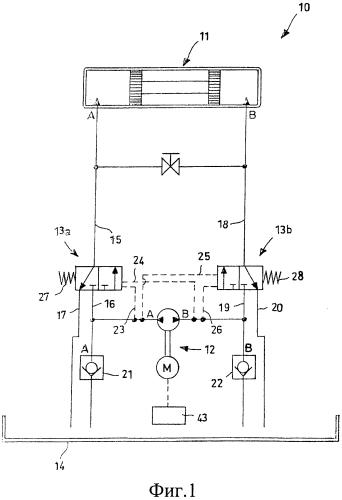 Масляно-гидравлическая система для перемещения двери