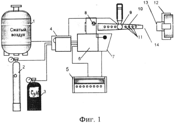 Способ получения детонационного биосовместимого покрытия на медицинский имплантат