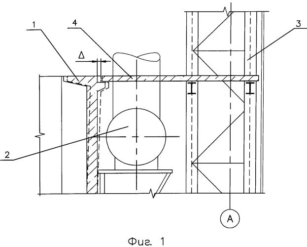 Способ и устройство для гашения температурных деформаций стенок печей обжига