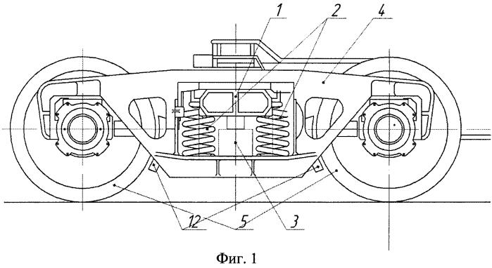 Железнодорожный вагон с минимизацией центробежных сил, воздействующих на железнодорожный состав