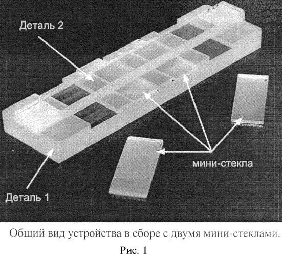 Набор и способ для приготовления многослойных агарозных блоков на поверхности мини-стекол для микроскопии