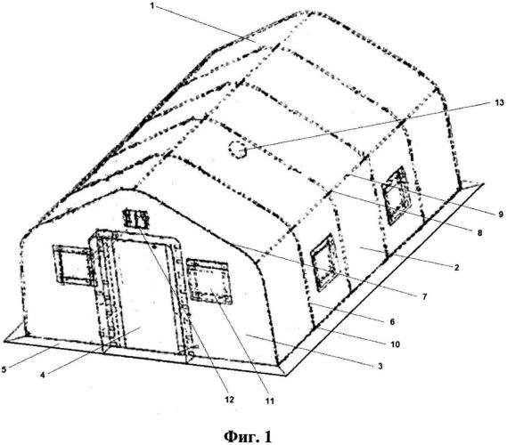 Палатка для обучения населения в условиях чрезвычайных ситуаций