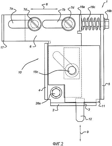 Механизм блокировки для выдвижного блока в электрическом шкафу