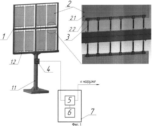Фотоэлектрическая станция с функцией самоочистки солнечных модулей