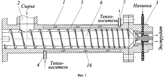 Экструдер для производства колечек с начинками