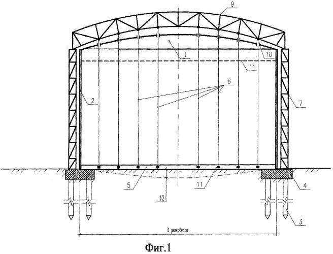 Вертикальный цилиндрический резервуар для хранения жидкостей и газов