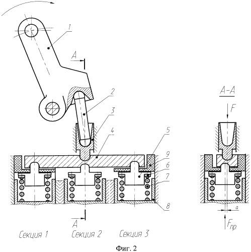 Приводное устройство тормозного крана