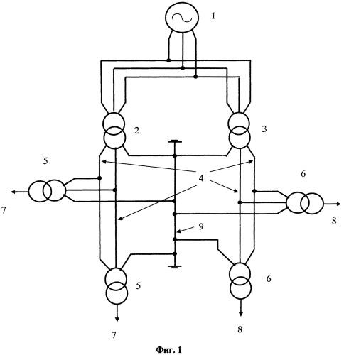 Четырехфазная пятипроводная линия электропередачи
