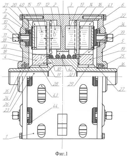Сдвоенная аксиальная асинхронная электрическая машина со встроенным тормозным устройством