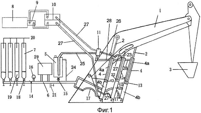 Подъемное устройство и способ подъема стрелы строительной машины, и строительная машина с таким подъемным устройством
