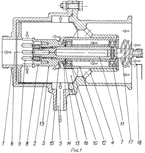 Приводной центробежный суфлер с осевой крыльчаткой