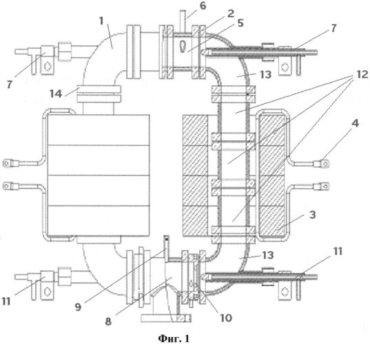 Комбинированный индукционно-дуговой плазмотрон и способ поджига индукционного разряда