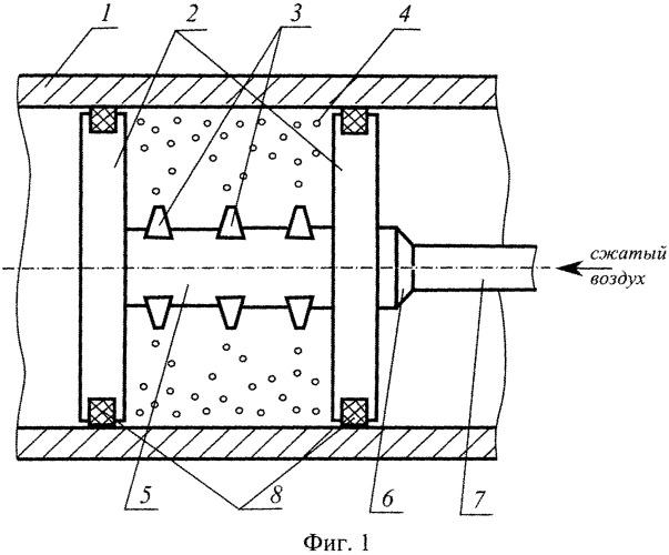 Способ обработки внутренних цилиндрических поверхностей свободным абразивом