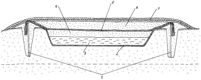 Способ строительства шламонакопителя для размещения отходов бурения скважин нефтегазовых месторождений (варианты)