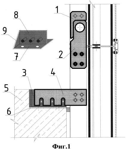 Способ безвыверочного монтажа модульных стеновых панелей каркасного здания