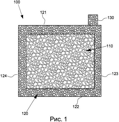 Многослойная токопроводящая матрица для токоприемников батарей