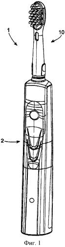 Чистящая секция электрического устройства для гигиены полости рта
