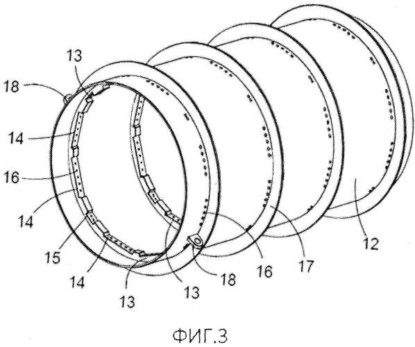 Корпус статора для погружного линейного генератора