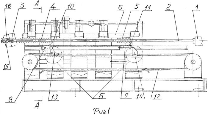 Устройство для установки стержня с оправкой на трубопрокатном стане