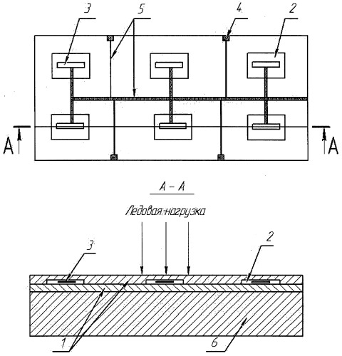 Измерительная панель ледового давления на основе пьезорезисторной молекулярной пленки (варианты)
