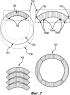 Способ расположения сегментов кольца на пластине для функционализированных слоев офтальмологической линзы