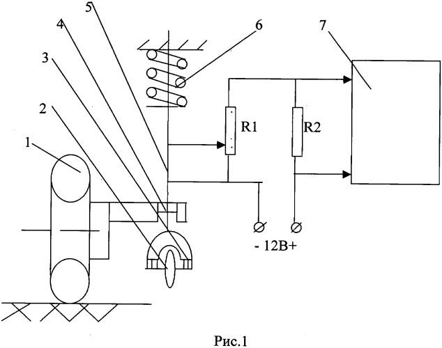 Устройство автоматического контроля и предаварийной сигнализации снижения давления воздуха в камерных и бескамерных шинах пневматических колес автомобилей