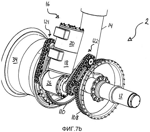 Узел привода для колес шасси летательного аппарата