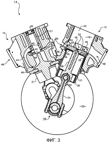 Устройство впускных и выпускных каналов двухтактного двигателя