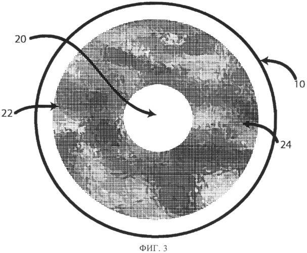 Окрашенная контактная линза на основе аморфных изображений