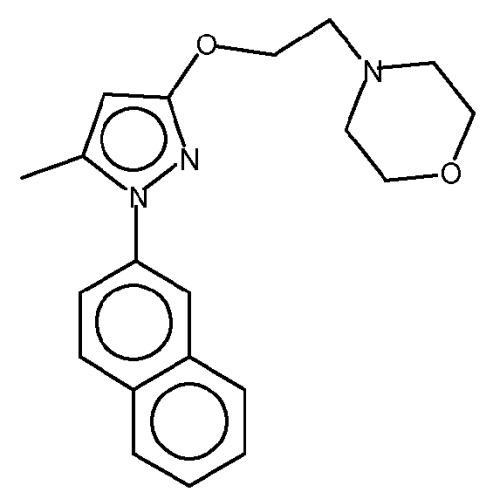 Соли 4-[2-[[5-метил-1-(2-нафталинил)-1н-пиразол-3-ил]окси]этил]морфолина